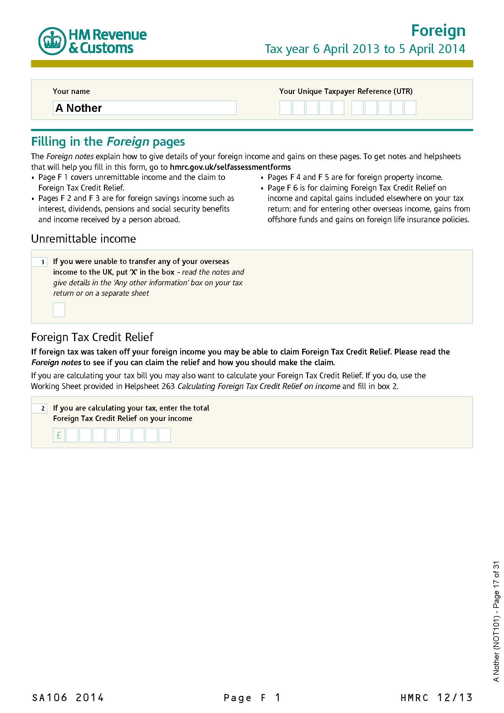 hmrc tax return form online