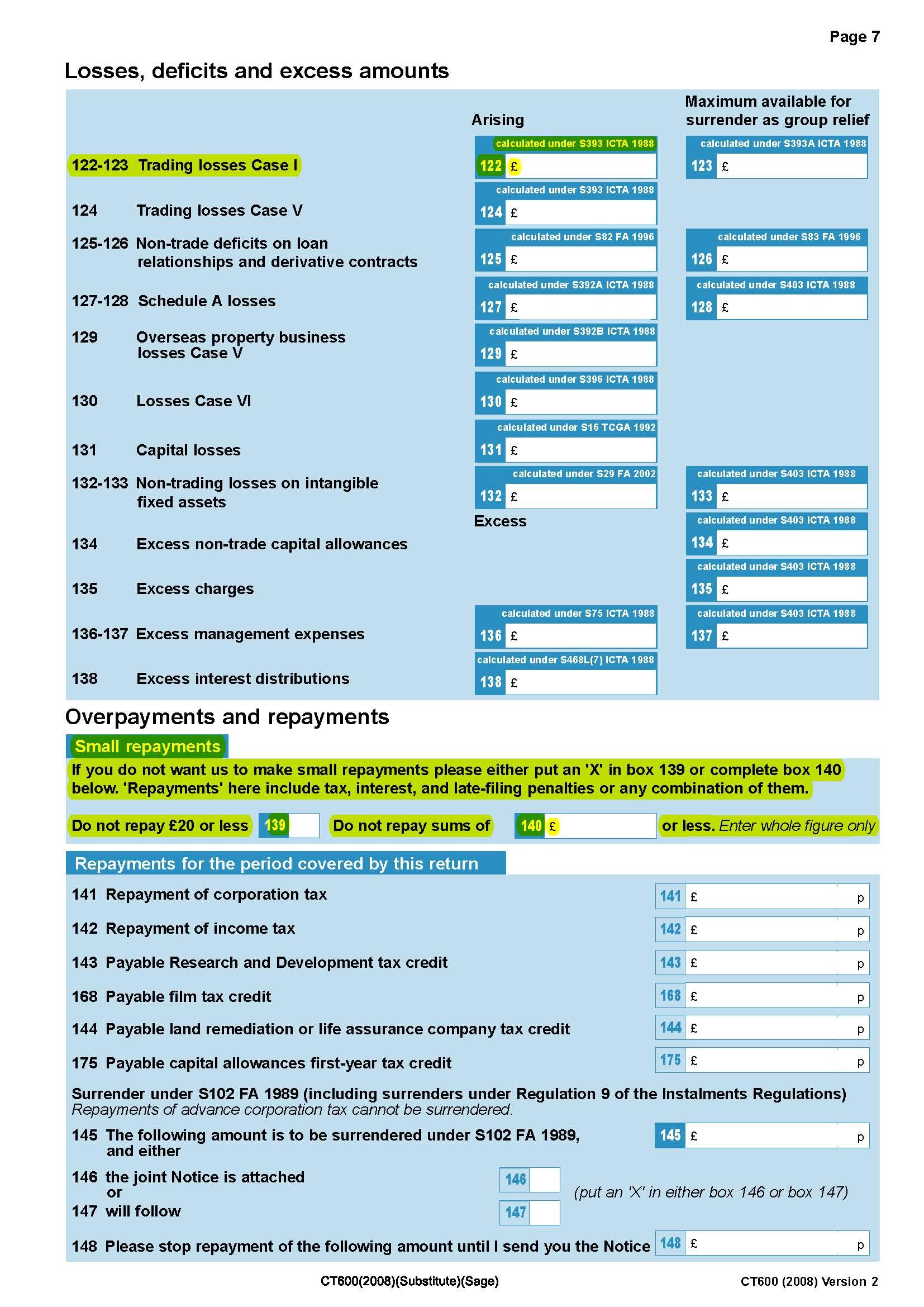 ct600 Corporation Tax Return: Corporation Tax Return Ct600
